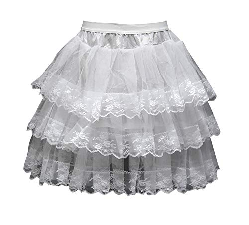 KSDN Girls Flower Dress Petticoat Hoopless Slip Elastic Waist Underskirt Crinoline -