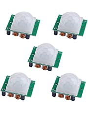 HC-SR501 PIR Sensor Infrared IR Body Motion Module for Arduino Raspberry Pi(Pack of 5pcs)