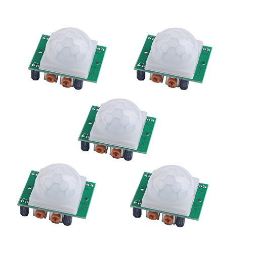 DIYmall HC-SR501 Pir Infrared IR Sensor Body Motion Module for Arduino (Pack of 5pcs)