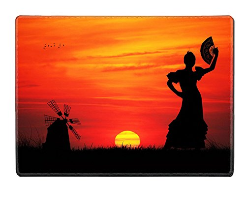 Liili Placemat Natural Rubber Material IMAGE ID 16857013 spanish girl (Girls Spanish Flamenco Dancer Costume)
