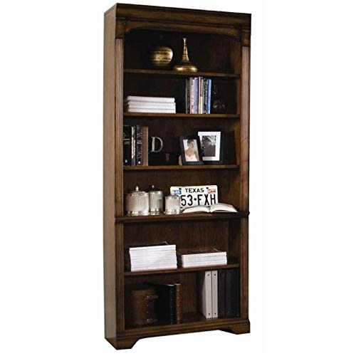 Hooker Furniture Brookhaven Tall Bookcase in Distressed Clear Cherry