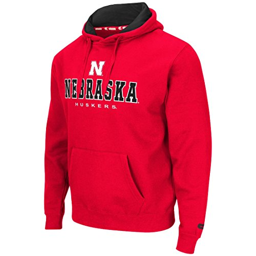 Nebraska Cornhuskers Mens Red Zone II Pullover Hooded Sweatshirt Large