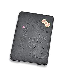 New Case for Apple iPad 5/iPad Aire Cute Cartoon Metal Bowknot Style Flip Wallet Leather Stand Cover-Black(Gift Cartoon Sticker 2 PCS)