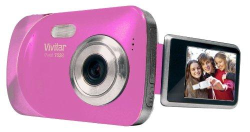 Vivitar v7028-pnk 7.1°Cámara Digital con Zoom óptico de 4.0x imagen estabilizado con visualización LCD de 1.8-inch...