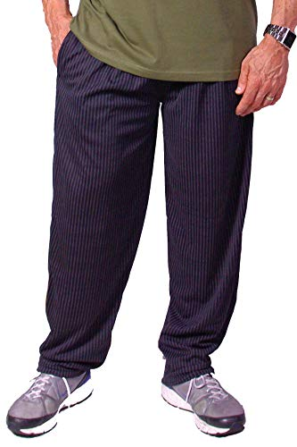 Crazee California Wear - Crazee Wear California Lines Design Relaxed Fit Pants Black