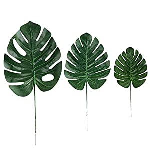 Iusun Artificial Palm Leaves Turtle Leaf Floral Bridal Wedding Bouquet Tropical Hawaiian Party Festival Holiday Home Office Hanging Road Lead Decorations Valentines Gift Hot Ornament 35