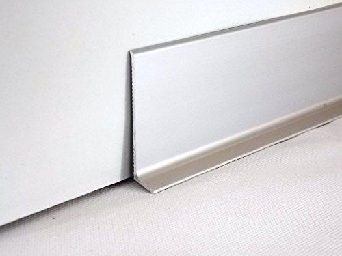 60mm, silber Aluminium Sockelleiste 270cm