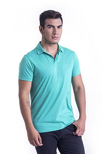 TRUTH ALONE Men's Polo, 100% Organic Peruvian Pima Cotton Jersey ()