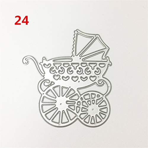 Guoshang DIY Metal Cutting Dies,Baby Carriage Cut Die Stencil Template Mould for DIY Scrapbook Embossing Album Paper Card Craft Decoration