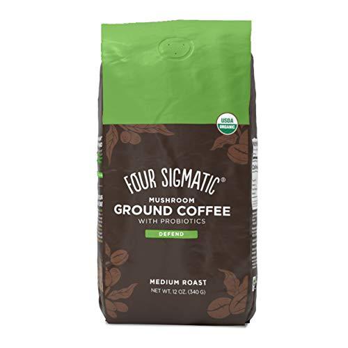 🥇 Four Sigmatic Mushroom Ground Coffee with Probiotics