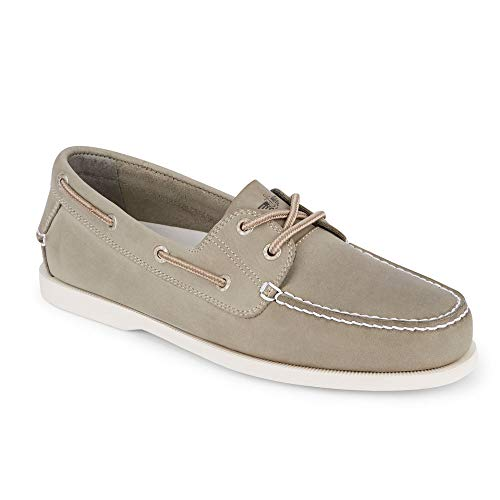 - Dockers Mens Vargas Leather Casual Classic Boat Shoe, Grey, 8.5 M