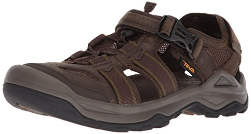 Teva Men's M Omnium 2 Leather Fisherman Sandal, Turkish Coffee, 12 M US
