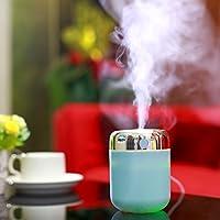Coerni 180ml Cute Portable USB LED Glowing Humidifier Essential Oil Diffuser for Car, Office, Home (Blue)
