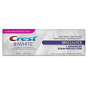 Crest 3D White Brilliance Vibrant Peppermint Toothpaste, 90 ml