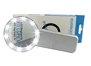 Eyelead 589750 - Lupa con luces LED (zoom 5x, 8 LED), color plateado