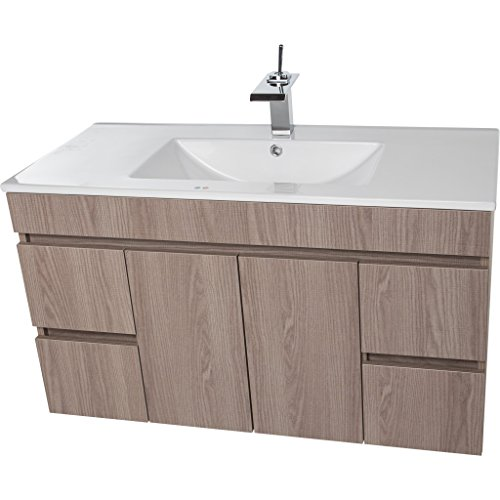 CV Bath Collection Strato Wall Mounted Bathroom Vanity Cabinet Set Bath Furniture With Single Sink (Estepa, 40 in.)