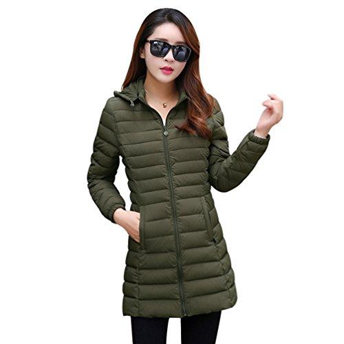 De Rembourrée Femmes Niseng D'hiver Veste Vert Longue Mode En Slim Manteau Casual pxq1SZqw