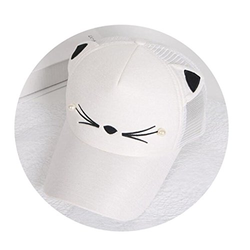 Capella Corner - Baby Girl Cute Ear Corner Baseball Cap Child Rebound Summer Adjustable Sun Hat Child Hip hop Hat
