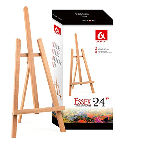 BEECH WOOD 600MM 24 HIGH ARTIST TABLE TOP DISPLAY EASEL - BEST EUROPEAN QUALITY by Quantum Art