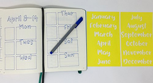 2 Bullet Journal Stencils - Days of the Month. Handwriting. by I'm Busy Being Awesome