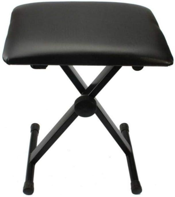 Black Seat Adjustable Folding Piano Bench Stool