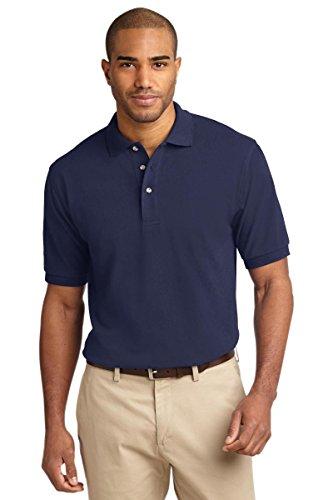 Ringspun Pique Shirt (Port Authority Men's Tall Pique Knit Polo 2XLT Navy)