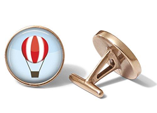 Hot Air Balloon Cufflinks (Solid Bronze) ()