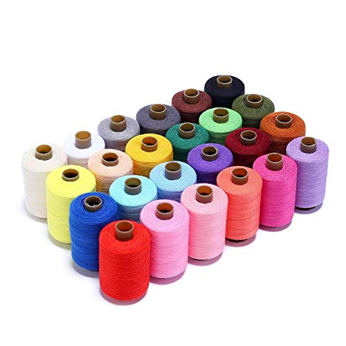 (Candora Sewing Thread Assortment Coil 24 Color 1000 Yards Polyester Thread Sewing Kit All Purpose Polyester Thread for Hand and Machine Sewing)