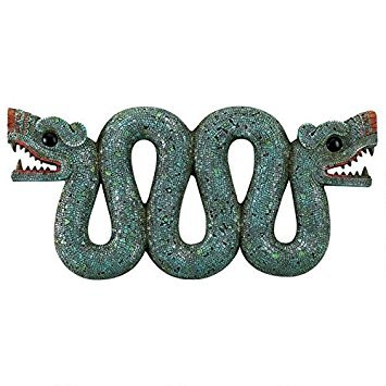 Design Toscano Aztec Double - Headed Serpent Wall Sculpture