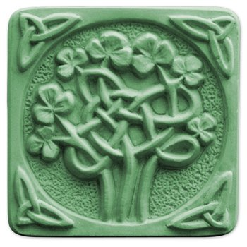 - Milky Way Celtic Clover Soap Mold Tray - Melt and Pour - Cold Process - Clear PVC - Not Silicone - MW 64