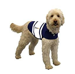 Thundershirt Dog Anxiety Treatment - Navy Blue Rugby (Extra Small)