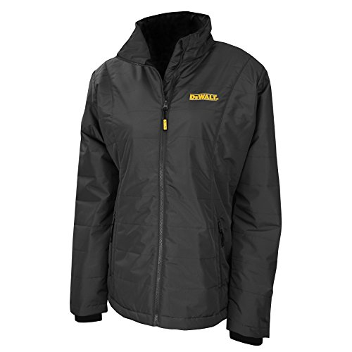 DEWALT DCHJ077D1-S Women's Quilted Heated Jacket, Small, Black