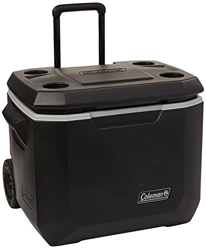 Coleman Wheeled Cooler | Xtreme Cooler Keeps Ice Up to 5 Days | Heavy-Duty 50-Quart Cooler with Wheels for Camping, BBQs, Tailgating & Outdoor ()