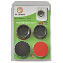 Premium Crimson Red Silent Feet - Anti-vibration Pads for Washing Machines and Dryers