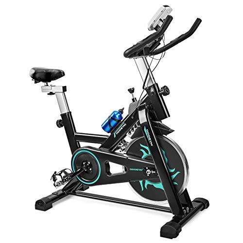 ODOGYM Indoor Cycling Bike Stationary – Exercise Bike with Comfortable Seat Cushion, Phone/Ipad Bracket, Heavy Flywheel…
