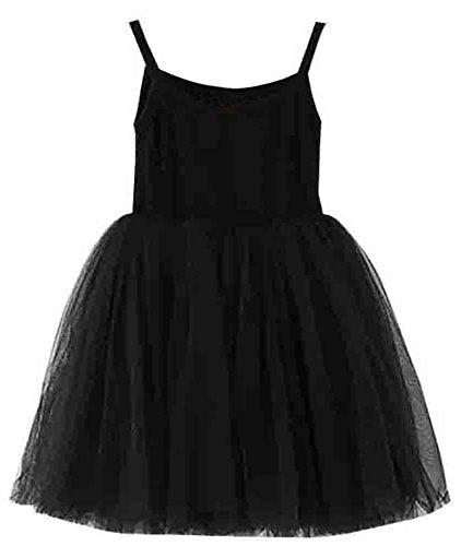 GSVIBK Baby Girls Tutu Dress Toddler Sleeveless Sunderss Straps Tulle Dress Holiday Tutu Dresses for Girl 36M Black 580 -