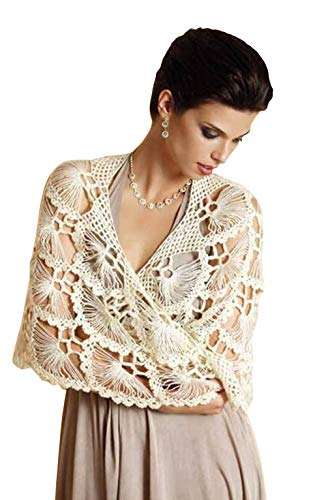 2eb02c4e7e Winter Wedding Ivory Lace Shawl -Evening Shawls Wraps Shrugs Jackets for  dresses Formal-Wool Cloak-Bridal Accessories for the bride-Bridesmaid ...