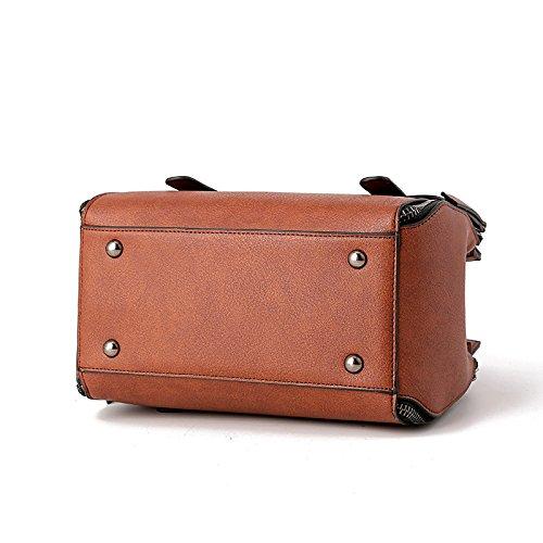 Brown Shoulder Tote Bag Vintage Bag Elegant Messenger Travel Fashion Bag Casual Work Women's a6q7Ox