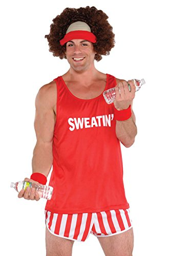 Amscan 843080 Exercise Maniac Character Costume Kit, Red, One Size