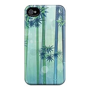 Iphone 4/4s Case Bumper Tpu Skin Cover For Bamboo Scenery Accessories