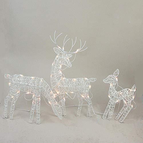 Outdoor Lighted Reindeer Family in US - 7