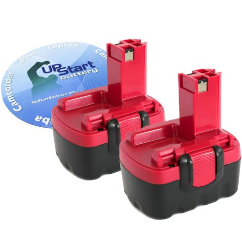 2-Pack Bosch 14.4V Battery Replacement - Compatible with Bosch 32614, BAT040, 33614, BAT140, PSR 14.4VE-2, GSR 14.4 V, GDS 14.4 V, GDR 14.4 V, ART 26, AHS 41, 53514, 52314, 13614, BAT038, 3660K, 35614, 34614, 15614, BAT159, BAT041 (3300mAh, NIMH)