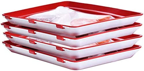 4pcs Creative meals preservation tray, wholesome kitchen software garage container set Reusable, sturdy, can stay culmination, greens, meat, bacon, scorching bacon meals brand new, dishwasher and freezer protected