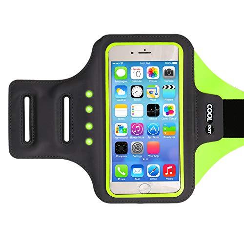 COOLDOT Led-telefoonhouder voor mobiele telefoon met verstelbare armriem en sleutel/kaarthouder – geschikt voor iPhone 6…