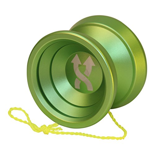 Yoyo King Double Agent Metal Professional Trick Yoyo and Extra Yoyo String (Green)