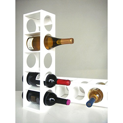 Proman Wall Mounted Wood White Rutherford Wine Racks (Set of 2)