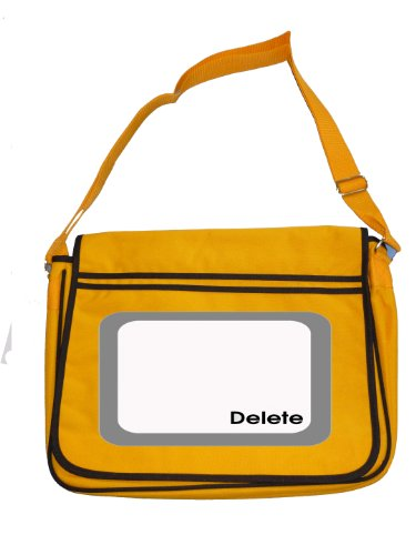Shoulder Men's Computer Icon Bag Button Yellow retro Keyboard Delete Messenger xvRSpqRZ
