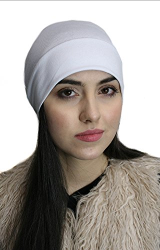 Comfortable COTTON, Sleep Cap, Hat or Head Warmer WHITE PETITE - Cotton Petite Hat