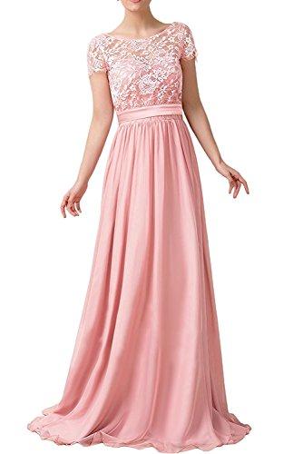 La Blau Partykleider Dunkel Hell Rock Rosa mit Linie Ballkleider Royal Kurzarm Braut Lang Abendkleider mia A Spitze Herrlich rq1tXxr