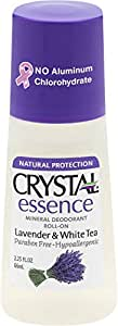 CRYSTAL essence Mineral Deodorant Roll-On - Lavender and White Tea (2.25 fl oz)